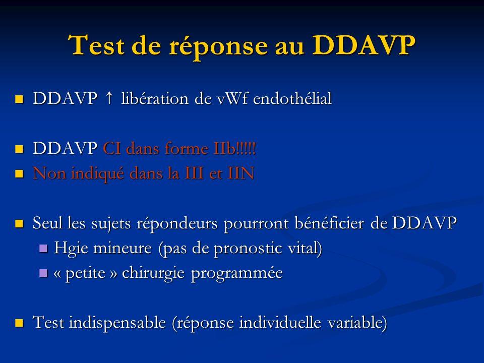 Test de réponse au DDAVP