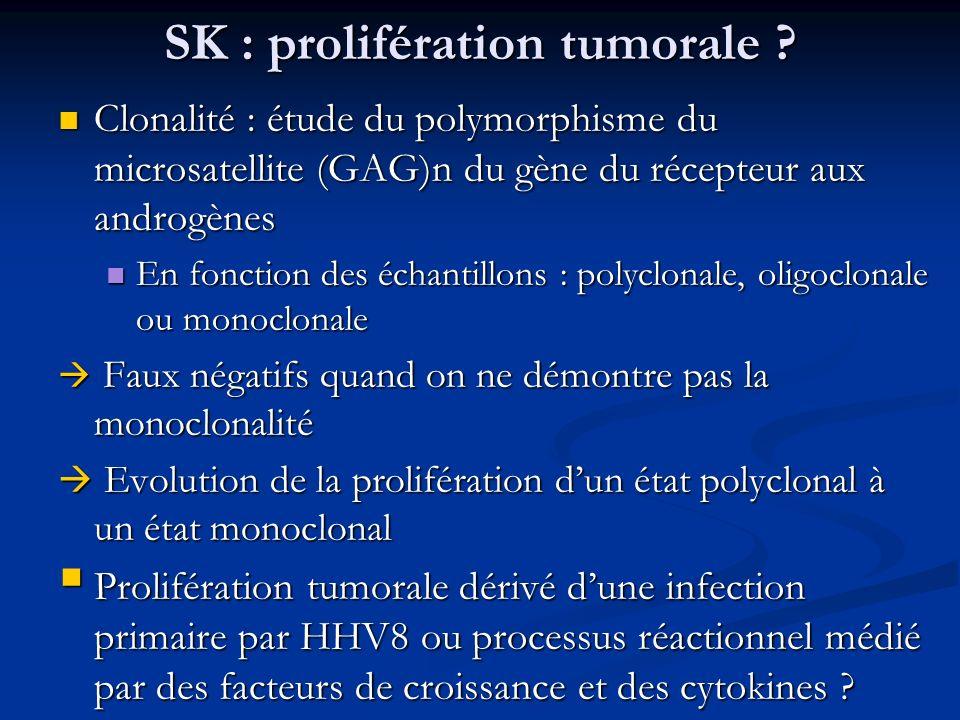 SK : prolifération tumorale