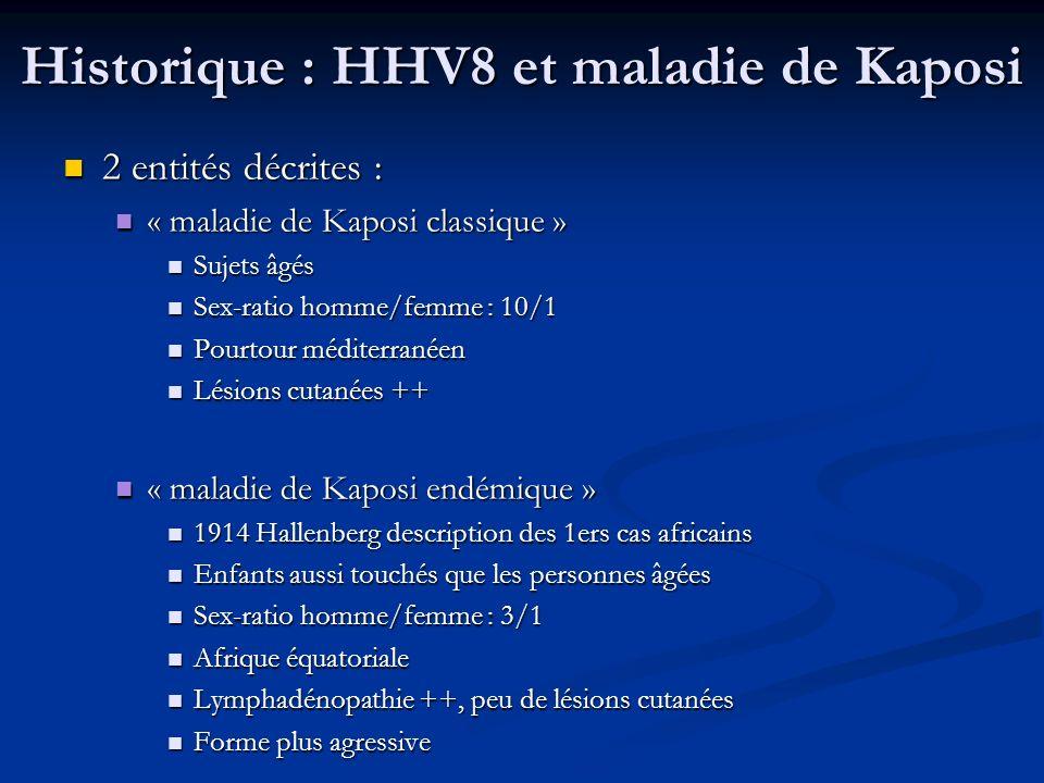 Historique : HHV8 et maladie de Kaposi