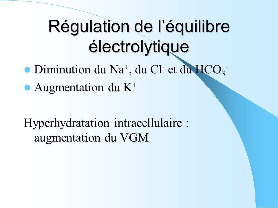 Régulation de l'équilibre électrolytique