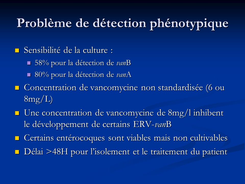 Problème de détection phénotypique