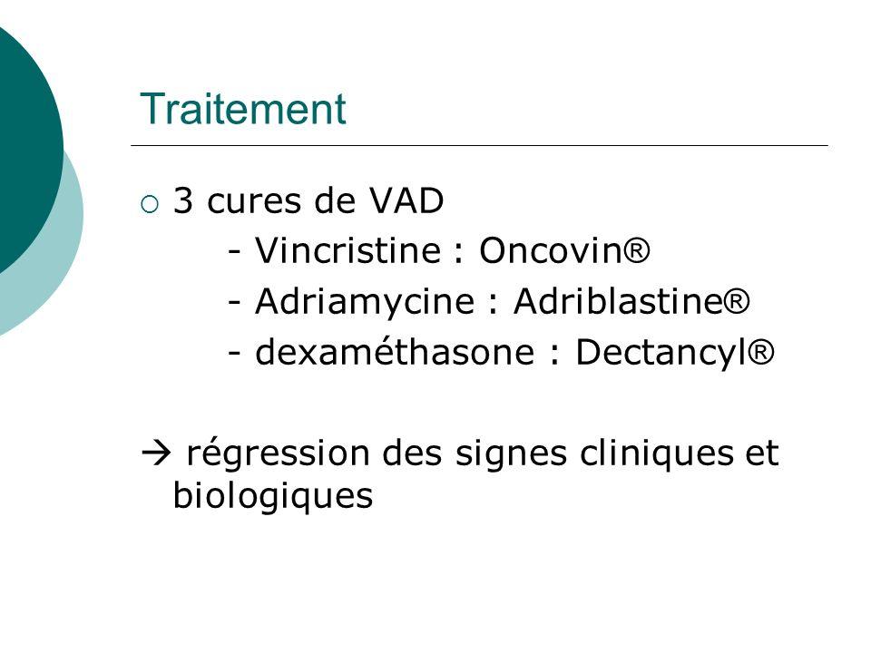 Traitement 3 cures de VAD - Vincristine : Oncovin®