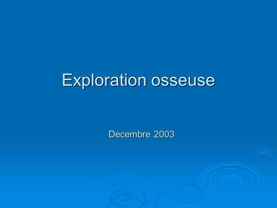 Exploration osseuse Decembre 2003