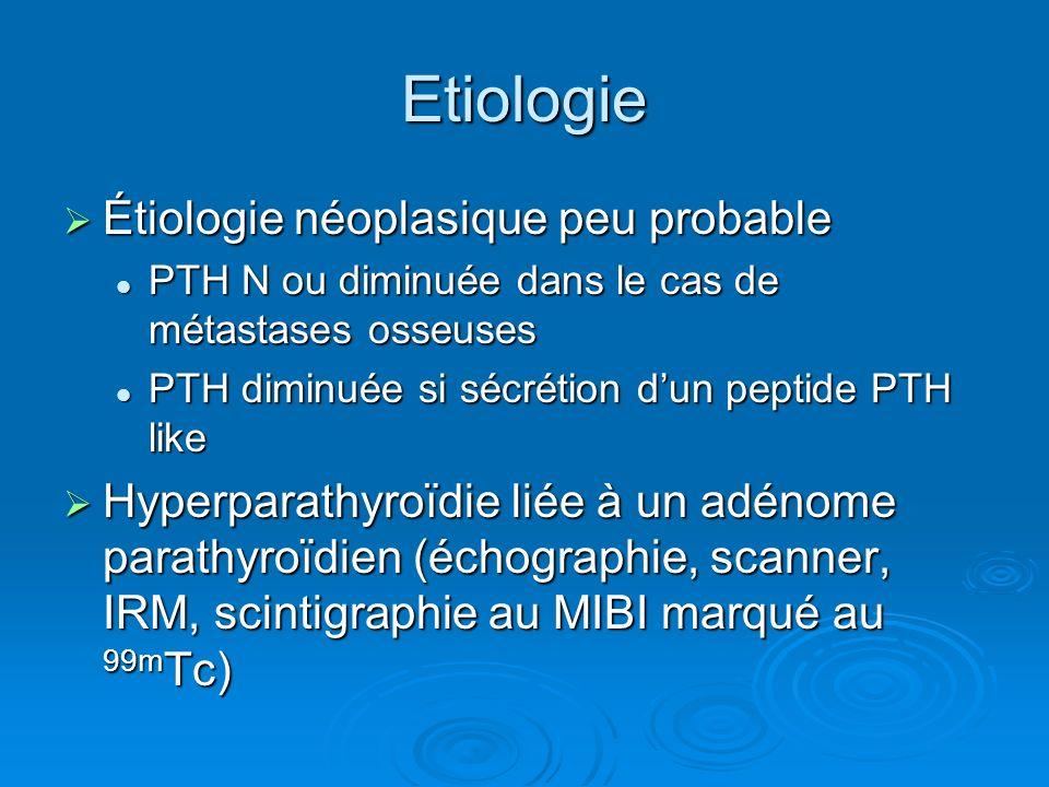 Etiologie Étiologie néoplasique peu probable