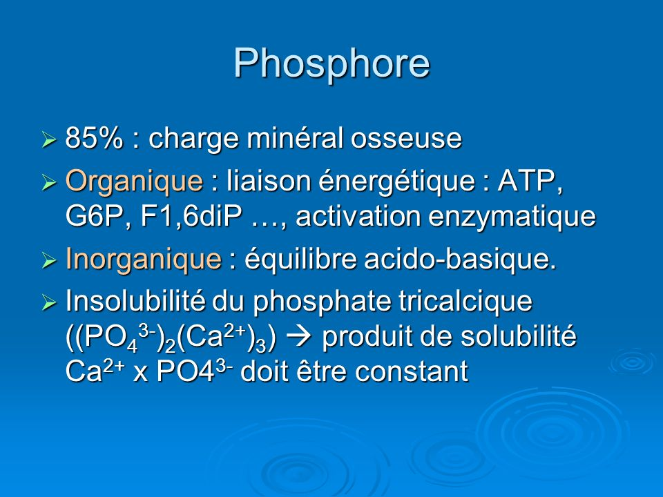 Phosphore 85% : charge minéral osseuse