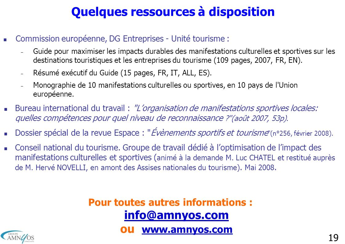 Quelques ressources à disposition