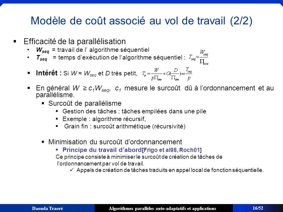 Modèle de coût associé au vol de travail (2/2)