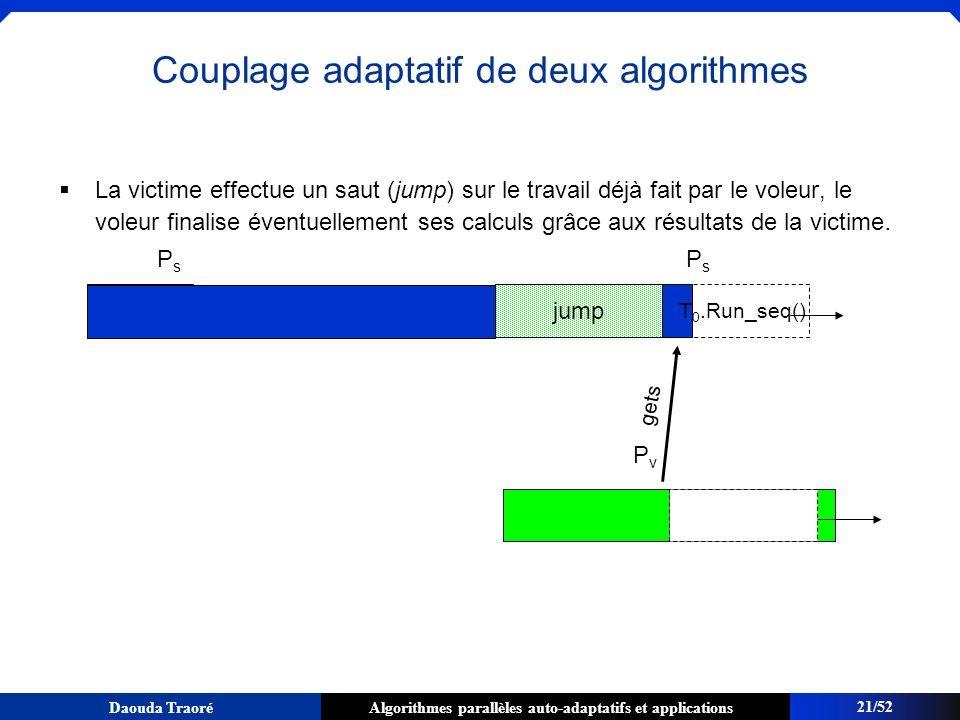 Couplage adaptatif de deux algorithmes