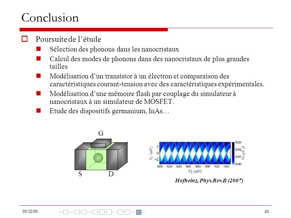 Conclusion Poursuite de l'étude