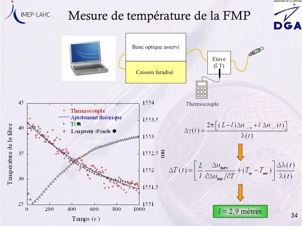 Mesure de température de la FMP