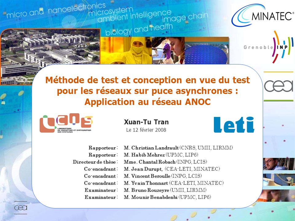Méthode de test et conception en vue du test