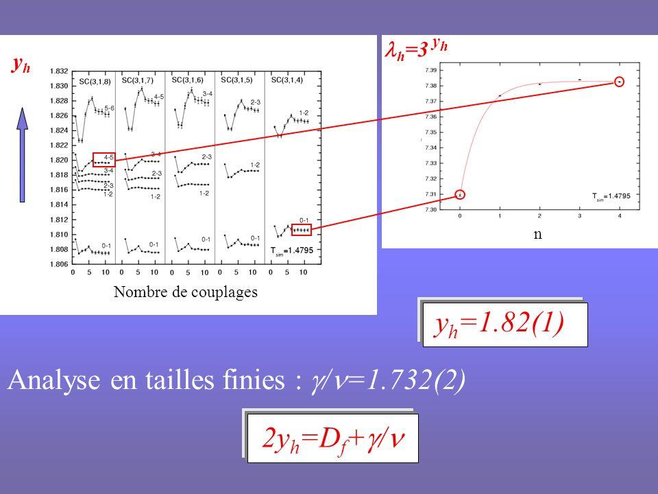 Analyse en tailles finies : g/n=1.732(2)