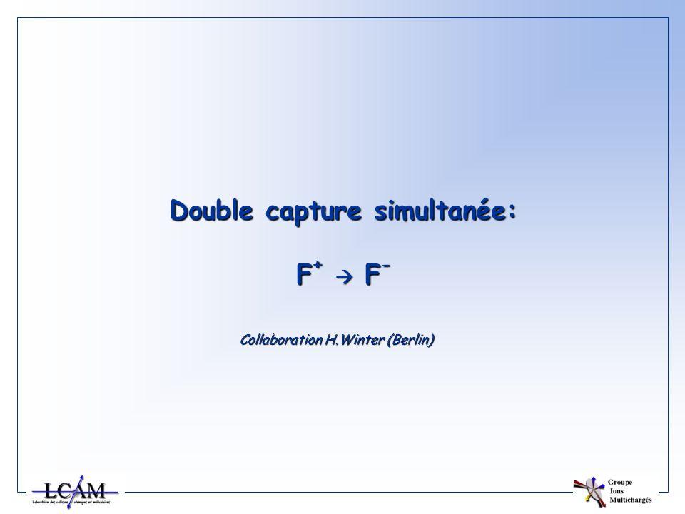 Double capture simultanée: F+  F-