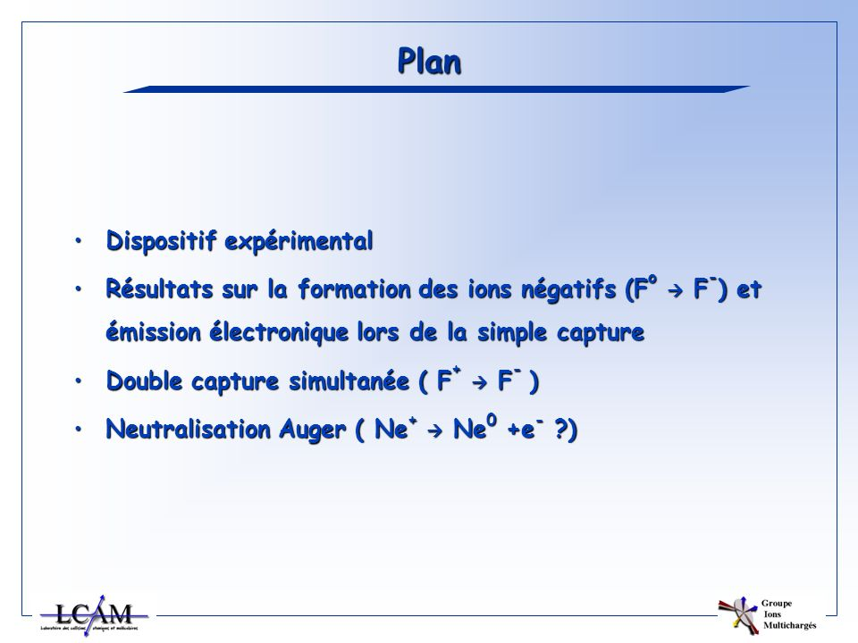 Plan Dispositif expérimental