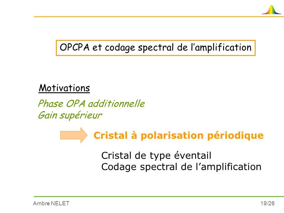 OPCPA et codage spectral de l'amplification