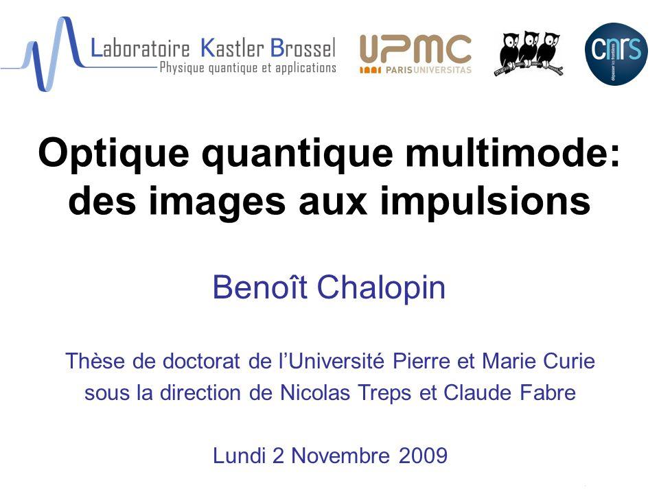 Optique quantique multimode: des images aux impulsions