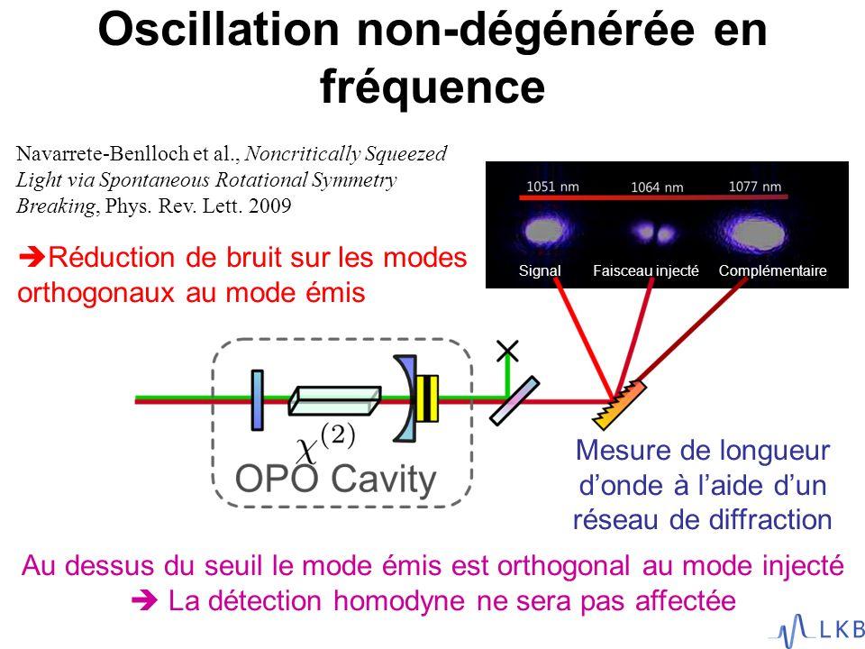 Oscillation non-dégénérée en fréquence