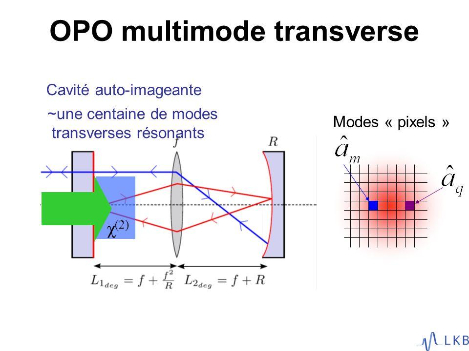 OPO multimode transverse