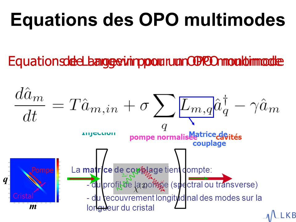 Equations des OPO multimodes