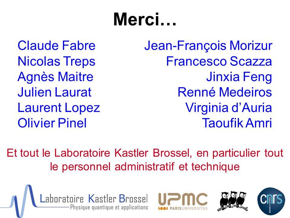 Merci… Claude Fabre Nicolas Treps Agnès Maitre Julien Laurat