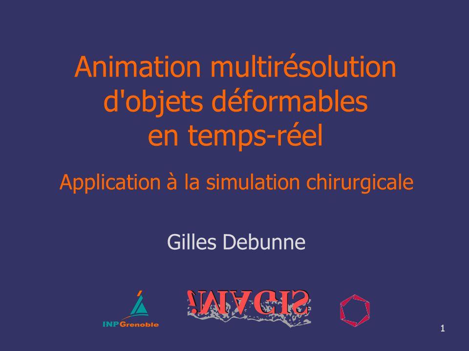 Animation multirésolution d objets déformables en temps-réel