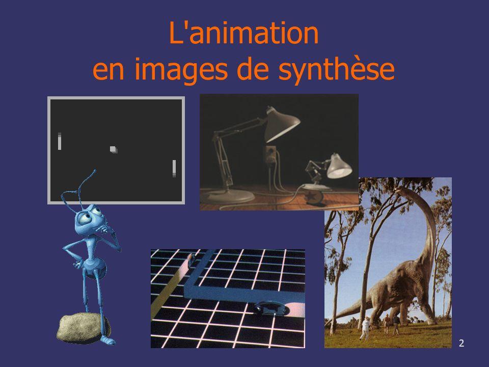L animation en images de synthèse