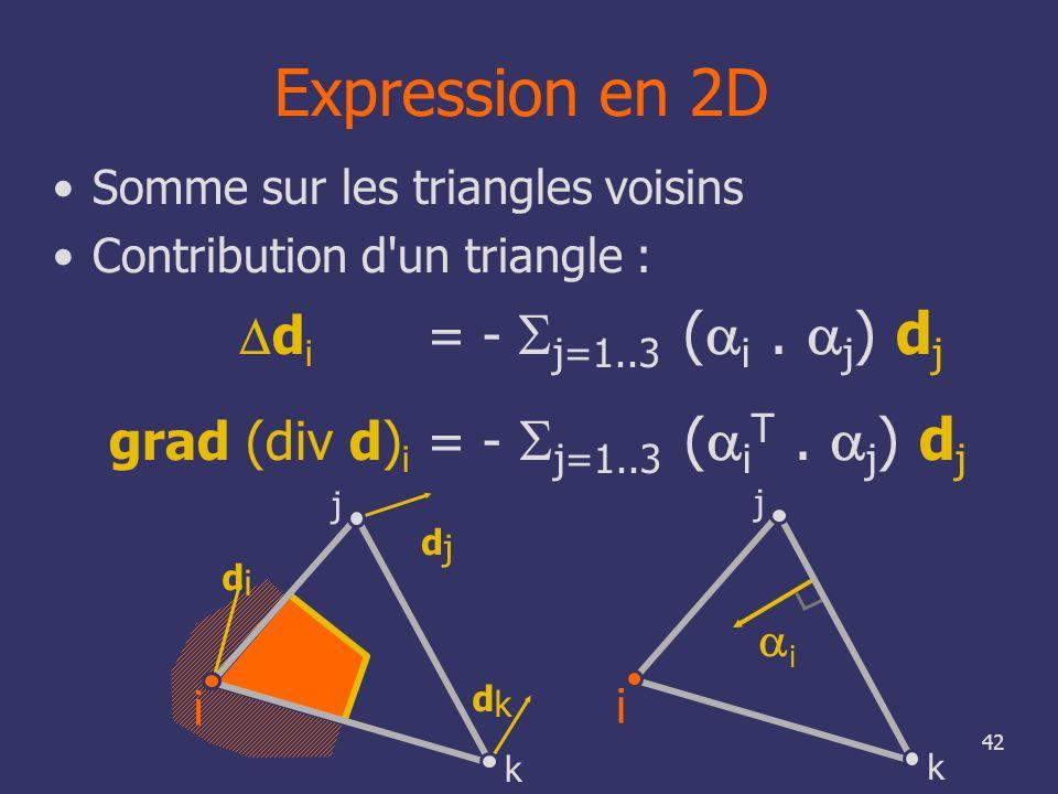 grad (div d)i = - Sj=1..3 (aiT . aj) dj