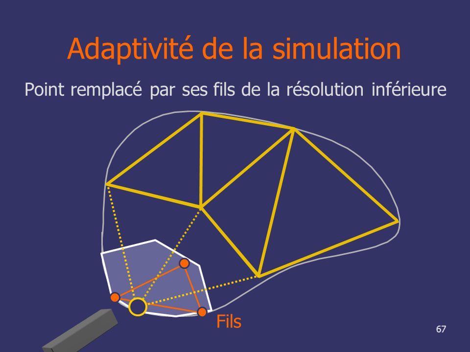 Adaptivité de la simulation