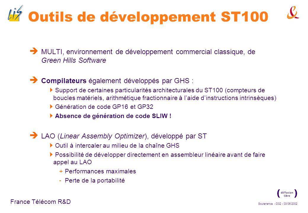 Outils de développement ST100
