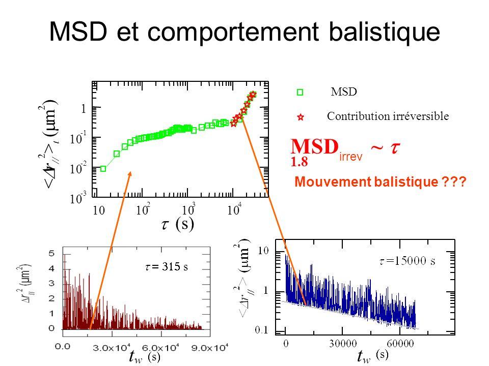 MSD et comportement balistique