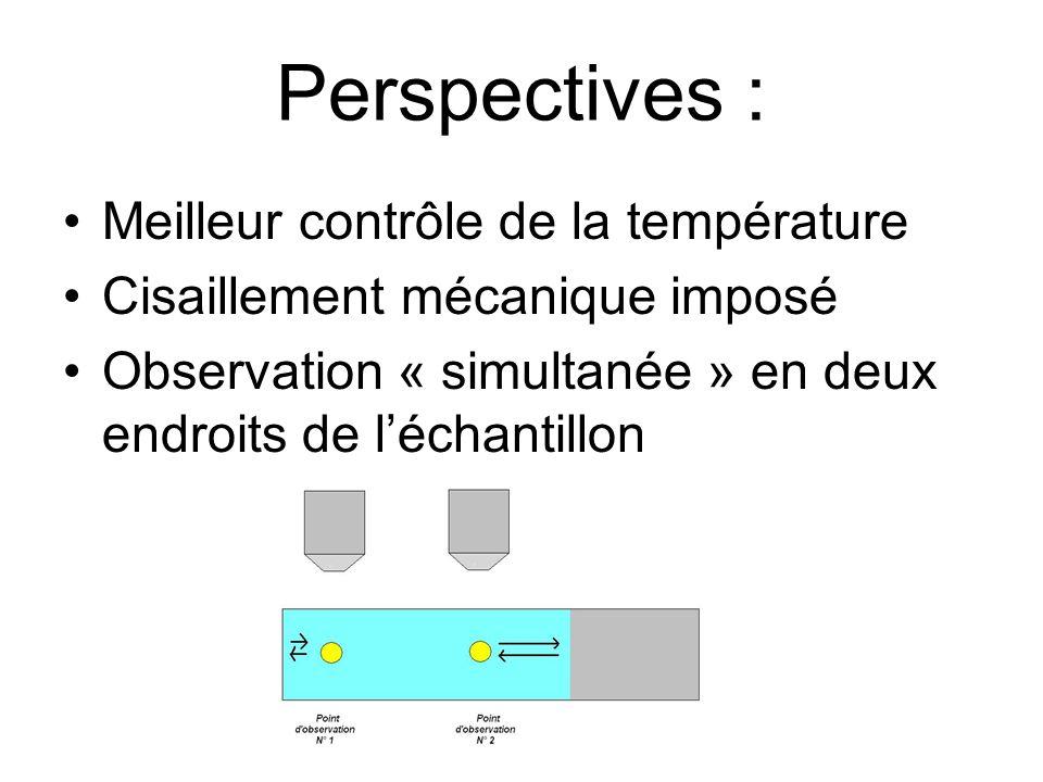 Perspectives : Meilleur contrôle de la température