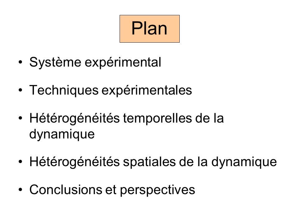 Plan Système expérimental Techniques expérimentales
