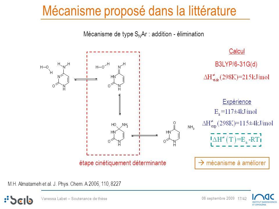 Mécanisme proposé dans la littérature