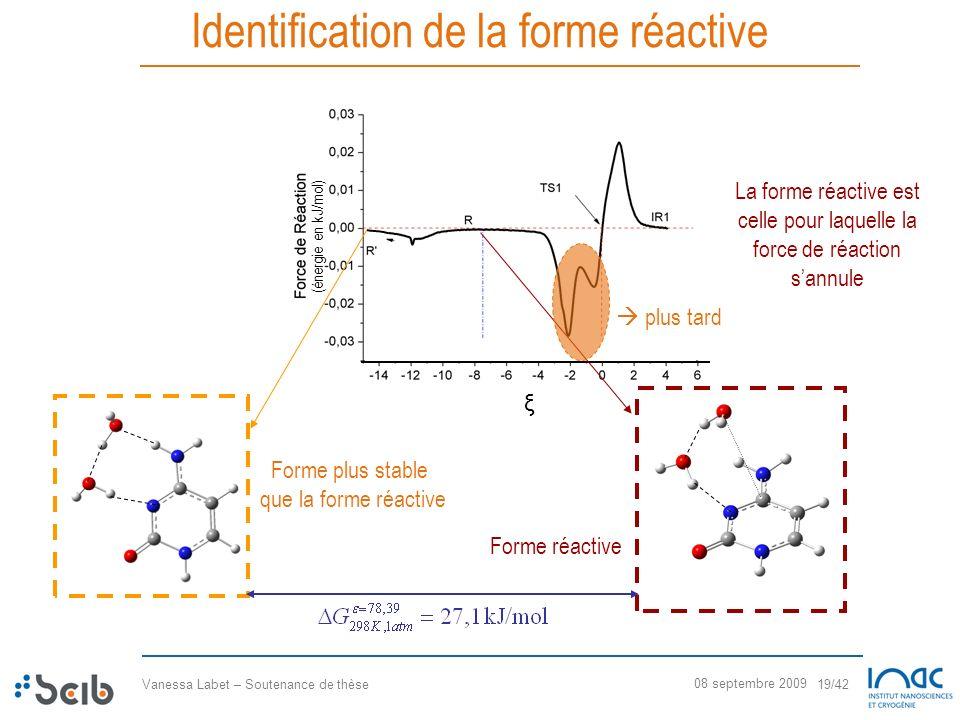 Identification de la forme réactive