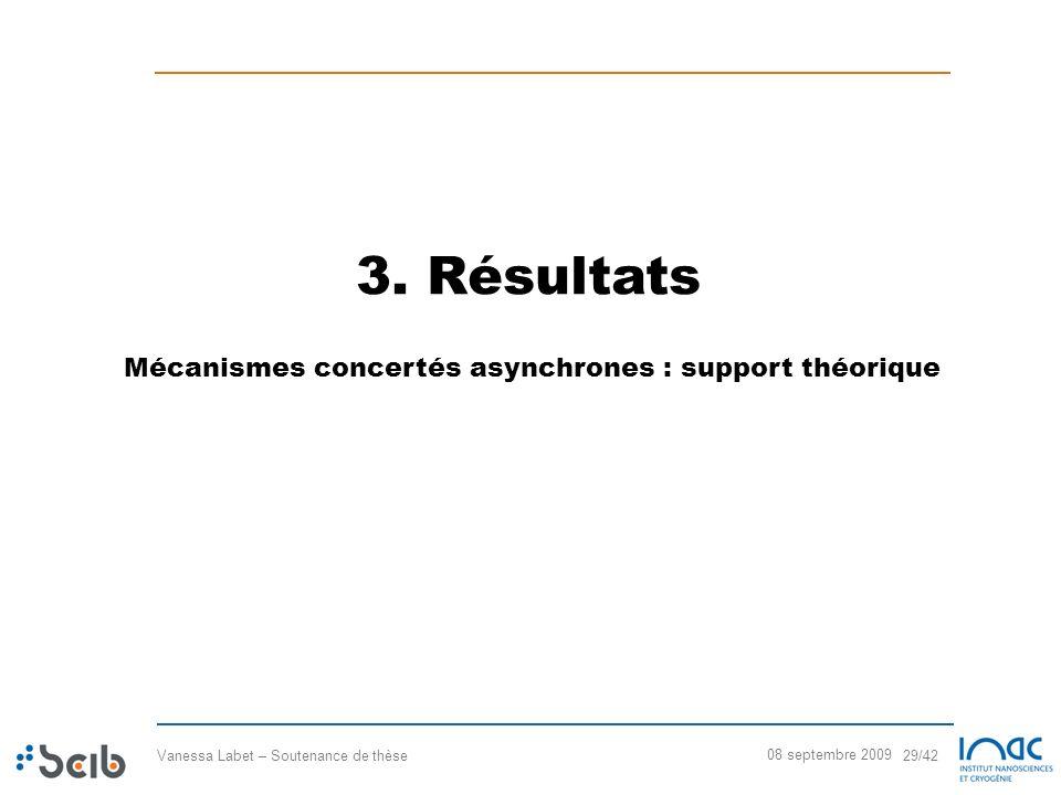 3. Résultats Mécanismes concertés asynchrones : support théorique