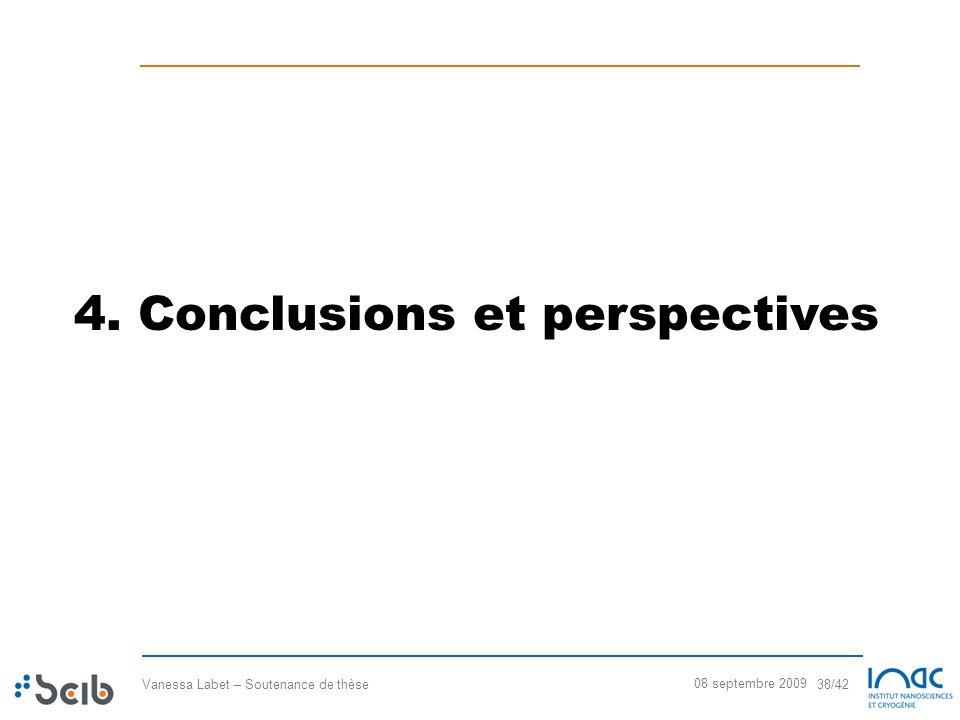 4. Conclusions et perspectives