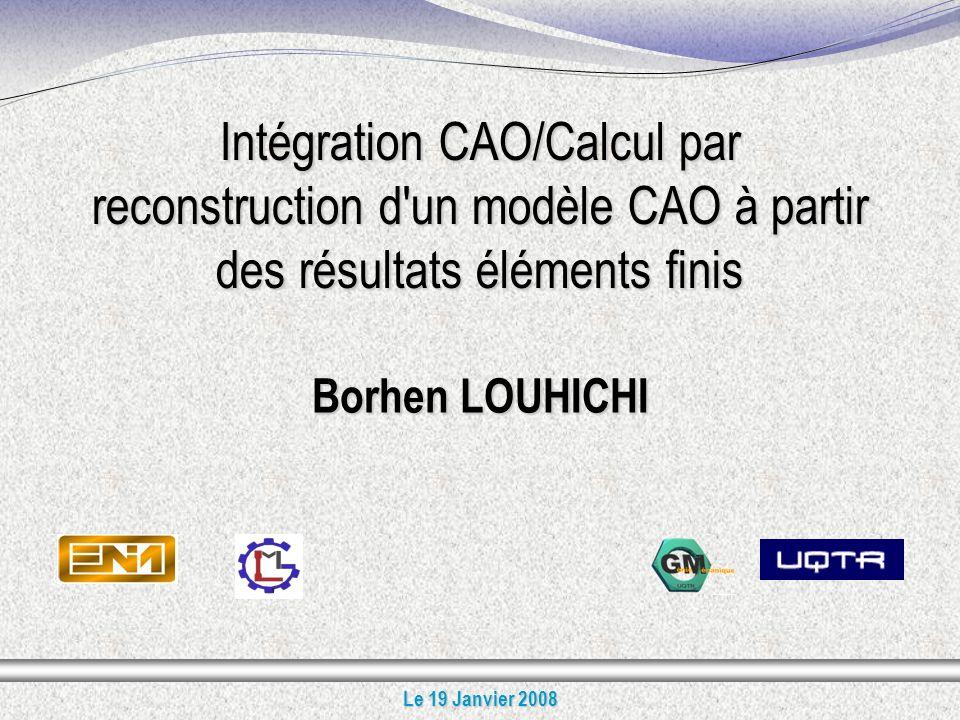 Intégration CAO/Calcul par reconstruction d un modèle CAO à partir des résultats éléments finis