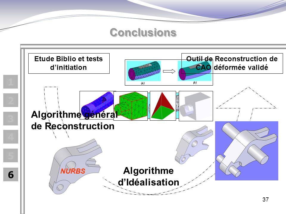 Conclusions 1 2 Algorithme général de Reconstruction 3 4 5