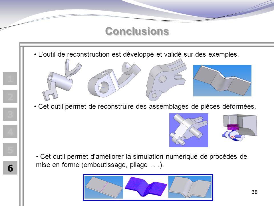Conclusions L'outil de reconstruction est développé et validé sur des exemples. 1. 2.