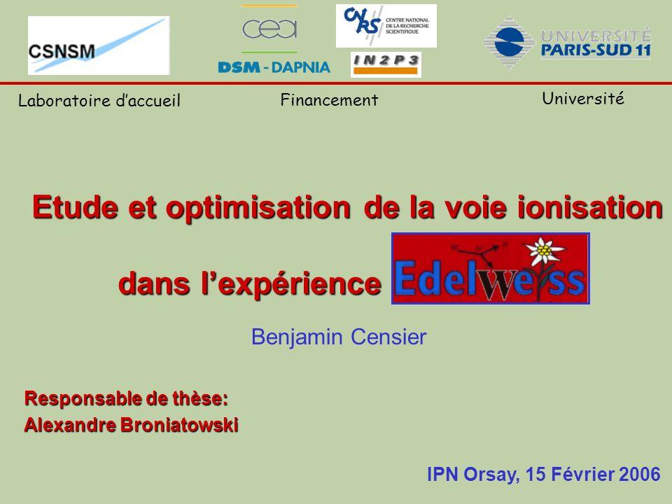 Benjamin Censier Responsable de thèse: Alexandre Broniatowski