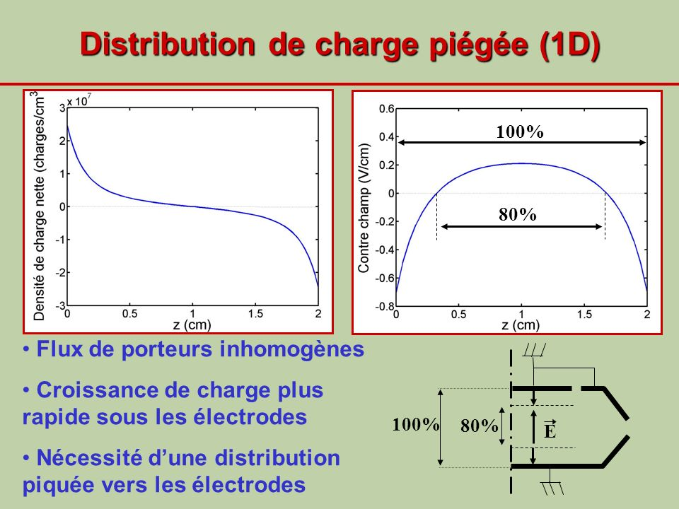Distribution de charge piégée (1D)