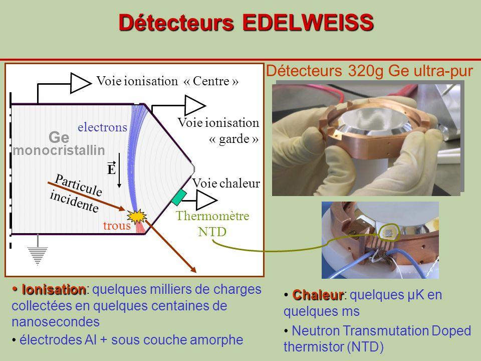 Détecteurs EDELWEISS Détecteurs 320g Ge ultra-pur Ge