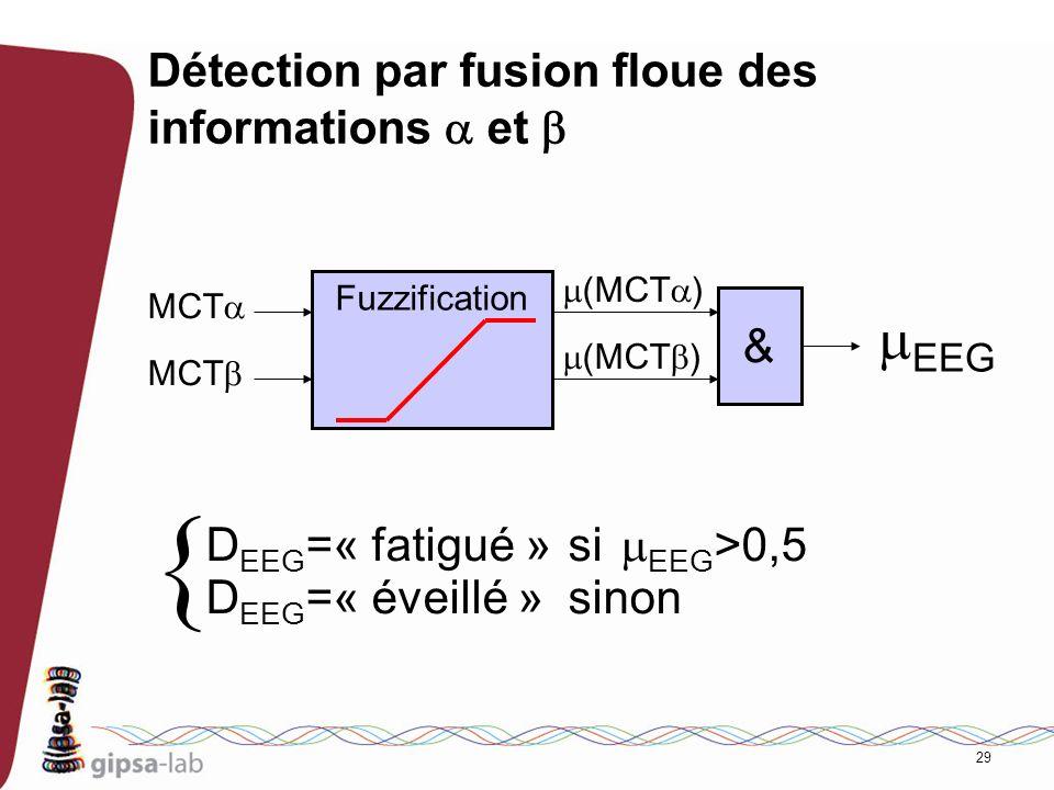 Détection par fusion floue des informations a et b