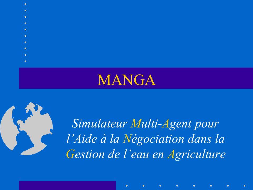 MANGA Simulateur Multi-Agent pour l'Aide à la Négociation dans la Gestion de l'eau en Agriculture