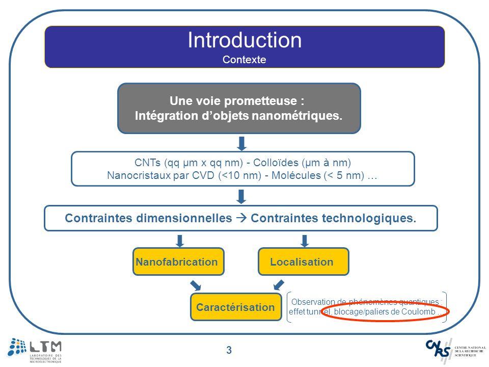 Intégration d'objets nanométriques.