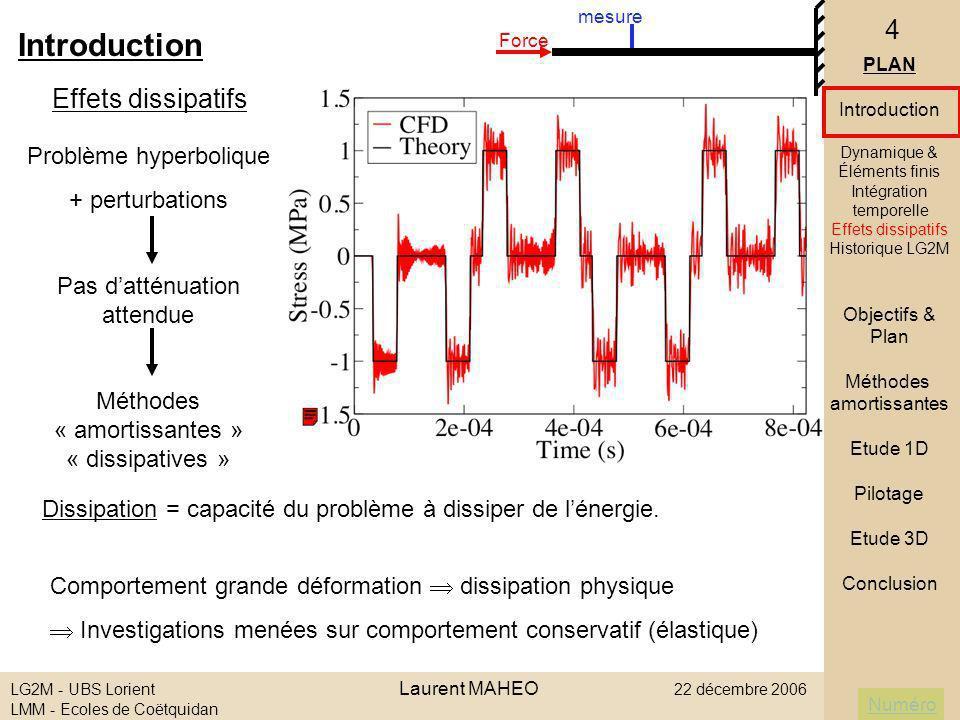 Introduction Effets dissipatifs Problème hyperbolique + perturbations