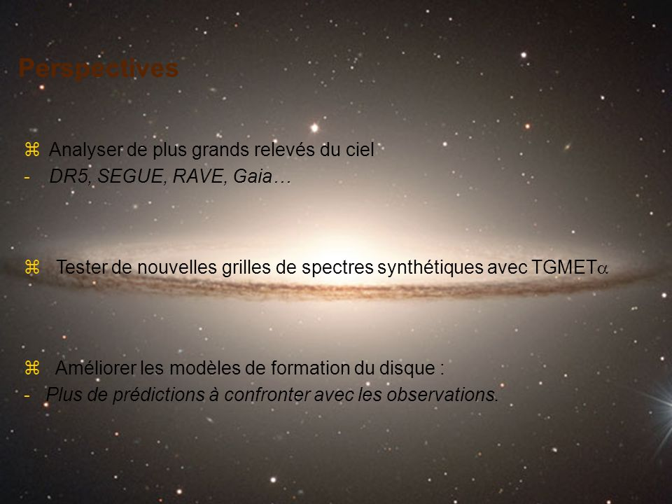 Perspectives Analyser de plus grands relevés du ciel