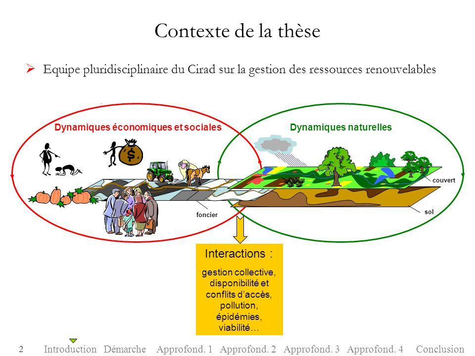 Contexte de la thèse Equipe pluridisciplinaire du Cirad sur la gestion des ressources renouvelables.