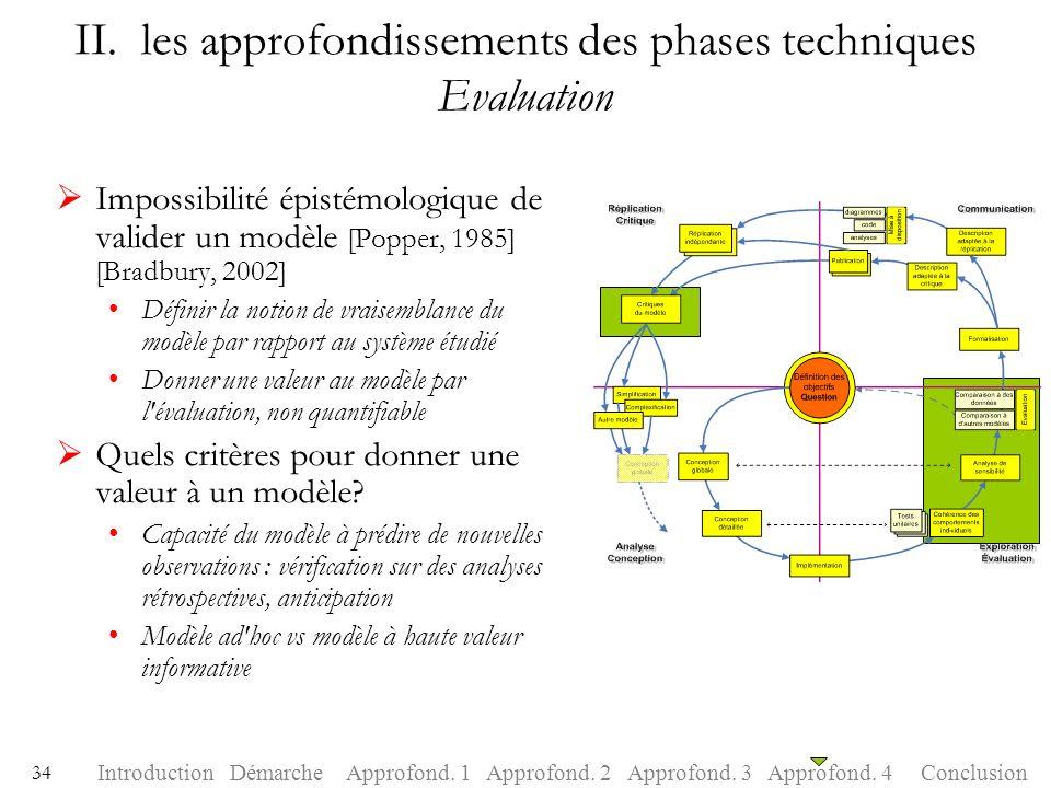 II. les approfondissements des phases techniques Evaluation