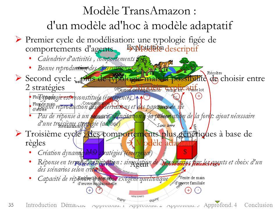 Modèle TransAmazon : d un modèle ad hoc à modèle adaptatif